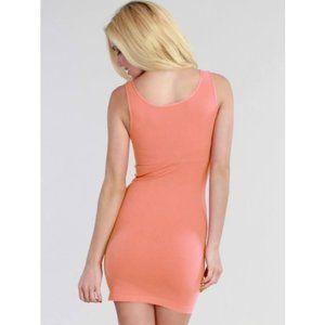 4/$20 Nikibiki Coral Peach Tank Dress